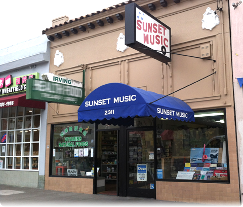 photo of Sunset Music storefront